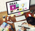 Drawing Graphic Designer imagination Concept Royalty Free Stock Photo