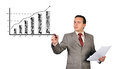 Drawing growth chart Stock Photo