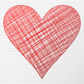 Drawing heart symbol Stock Photo