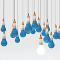 Drawing idea pencil and light bulb concept creative and leadersh leadership as Royalty Free Stock Image