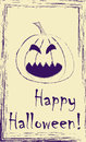 Drawing of jack o lantern pumpkin Stock Photography