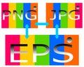 Drawing logo of png jpg eps file.