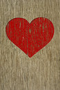 Drawing love symbol on old wooden wall vintage Royalty Free Stock Photography