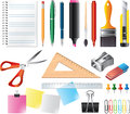 Drawing and office tools set photo realistic Royalty Free Stock Photo