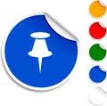 Drawing-pin  icon. Royalty Free Stock Photo
