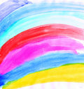 Drawing of rainbow Stock Photography
