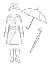 Drawing rainwear Royalty Free Stock Image