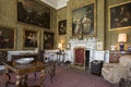 Drawing room manor house yorkshire england in the interior of a large country or stately home in north east Royalty Free Stock Photos