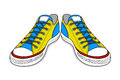 Drawing of sports shoes. youth easy footwear