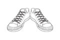Drawing Of Sports Shoes. Youth...