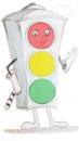 Drawing traffic light Royalty Free Stock Photo