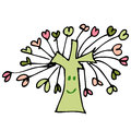 Drawing tree of heart Royalty Free Stock Images