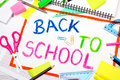 Drawing with words back to school Royalty Free Stock Photo