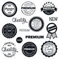 Drawn vintage badges Royalty Free Stock Photo