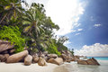 Dream beach anse georgette praslin seychelles Stock Image