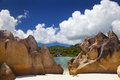 Dream beach curieuse island seychelles Stock Photo