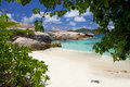 Dream beach felicité island seychelles Royalty Free Stock Photos