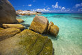 Dream beach felicité island seychelles Royalty Free Stock Photo