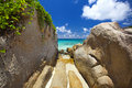 Dream beach felicité island seychelles Royalty Free Stock Photography