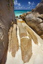 Dream beach felicité island seychelles Stock Photo