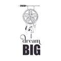 Dream big wall art poster