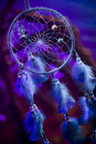 Dream catcher on a forest at night dreamcatcher hanging in Stock Photo