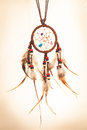 Dream catcher leather on sepia tone background Royalty Free Stock Image