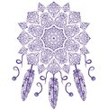 Dream Catcher, Protection, American Indians. Abstract Tribal vintage ethnic seamless ornament. Royalty Free Stock Photo