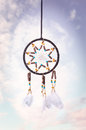 Dream catcher in the sky Royalty Free Stock Image