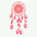 Dream catcher, vector illustration.  design elements. Royalty Free Stock Photo