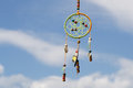 Dream catcher in the wind against the sky, selective focus Royalty Free Stock Photo