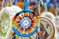 Dream catchers of different colors closeup image Royalty Free Stock Image