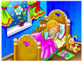 Dream colorful art of a sleeping child Stock Photo