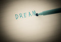 Dream concept closeup of pencil Stock Photo