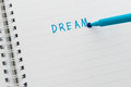Dream concept closeup of pencil Royalty Free Stock Images