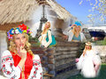 Dream girl from the village ukrainian Royalty Free Stock Images