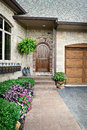 Dream home back door entry Stock Image