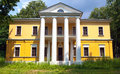 A dream house with columns russian th century manor landlord Stock Photography
