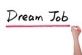 Dream job words written on white board Royalty Free Stock Photos