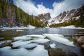 Dream Lake at the Rocky Mountain National Park Royalty Free Stock Photo