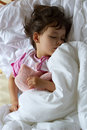 Dream of little girl Royalty Free Stock Photography