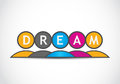 Dream team colorful icon abstract background Royalty Free Stock Images