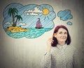 Dream of vacation Royalty Free Stock Photo