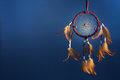 Dreamcatcher on a color background Royalty Free Stock Photo