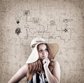 Dreamer young girl Royalty Free Stock Photo