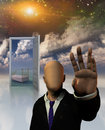 The dreamers dream faceless man in suit seems to block passage Royalty Free Stock Photography