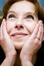 Dreaming look mature woman Στοκ φωτογραφία με δικαίωμα ελεύθερης χρήσης