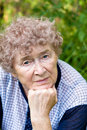 Dreaming sad granny Royalty Free Stock Photos