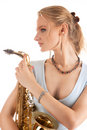 Dreaming young sensual blonde Royalty Free Stock Photo
