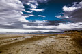 Dreamlike sky cloudy and beautiful beach Royalty Free Stock Photography